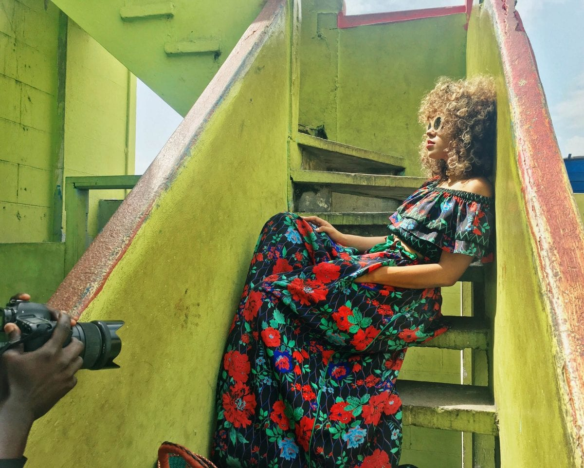 KENZO X H&M: backstage the shoot in Jamestown