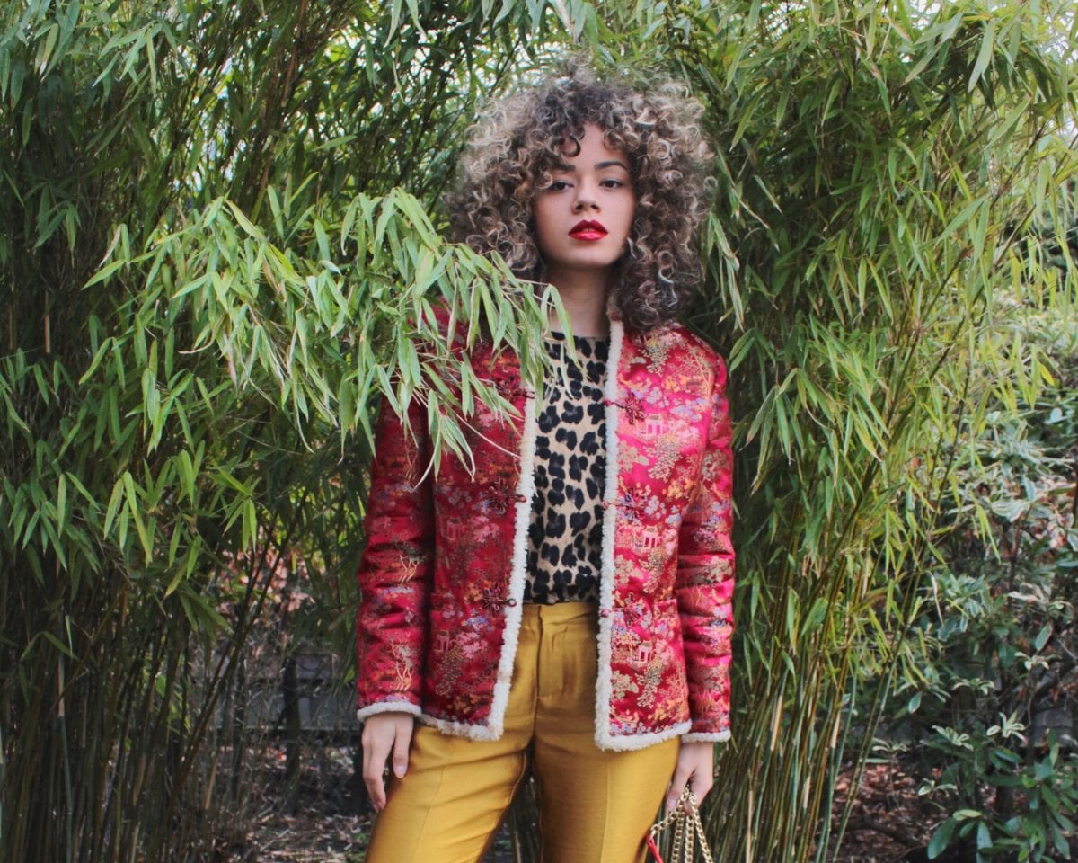 how I style this vintage Chinese jacket